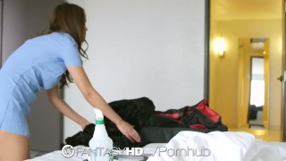 Preview 1 of FantasyHD - Cutie housekeeper Dillion Harper gets naughty