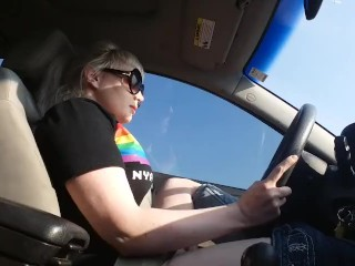 edging while driving