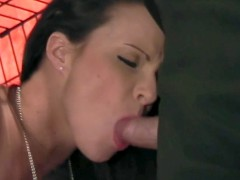Brunette Gets Blessed By The Big-Cock And The Holy-Cum