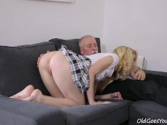 Old Goes Young – Sexy Helena blows old goes young