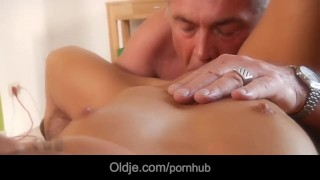 Smooth young bimbo horny for old ex..