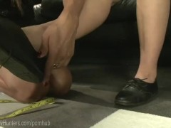 TS Store Clerk Dominates Pussy And Ass