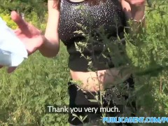 PublicAgent Horny hitchhiking babes fuck for cash part 1