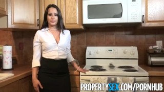 PropertySex - Foxy real estate agent revenge sex with very lucky client  point of view real estate agent revenge funny pov propertysex missionary big dick curvy brunette reality stockings facial doggystyle pov blowjob realtor
