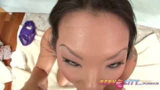 PervCity Asa Akira Japanese Blowjob  sloppy gaping asian pervcity blowjob tattoo pov skinny toys rimming japanese gape gagging deepthroat anal butt fucking