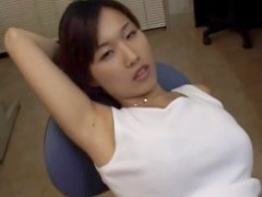 Japanese office girl licks her schlong juice filled arm pit