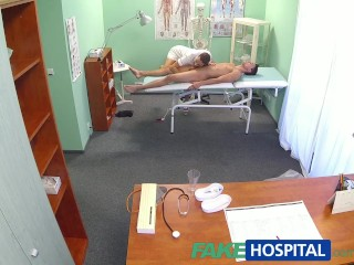 Fakehospital fit nurse sucks and fucks body builder - 2 part 1