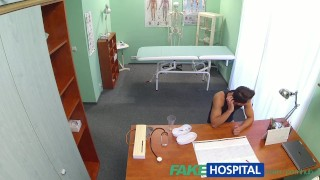 FakeHospital Hot nurse massages patient before sucking and fucking him  spy cam sexy slim amateur voyeur small tits pov real brunette reality czech cream pie hospital exam patient nurse spying hidden cameras