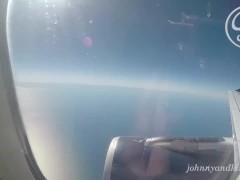 Public Sex Blow Job on an Airplane
