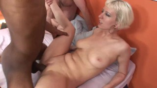 Bi Cum EATING Cuckold  doggy style big ass big cock bbc oral blowjob blonde cumshot fetish big dick bisexual cock sucking 3some threesome natural tits rimimign cum eating cuckold