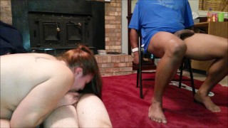 Tricked blindfolded wife