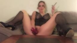 Blunt Smoking Dildo Masturbation