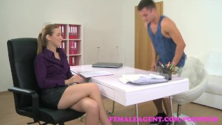FemaleAgent Studs cock unloads a huge creampie inside agents pussy  agent creampie shaved-pussy pussy-licking hd audition sexy blowjob femaleagent bald-pussy hardcore office czech cuni drilled internal