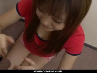 Noriko Kago Asian teen sucks cock in dirty manners