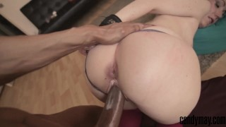 Candy May - Handcuffed and fucked by BBC, Anal  ass fuck doggy style point of view big cock bbc babe booty amateur blonde pov interracial anal socks candymay