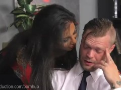 Office Boss Dominated By TS Employee
