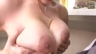 Dazzling blowjob with big tits Araki Hitomi  cock sucking tit licking big boobs sexy lingerie cum in mouth tit fuck hot milf tits pov javhd mom busty