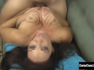 Sexy MILF Charlee Chase Gets Tit Fucked