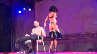 Stunning whore enjoys on the stage