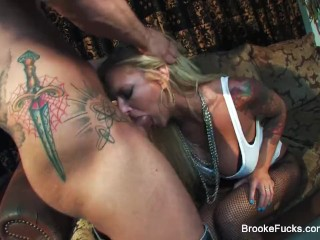 Busty blonde Brooke Banner likes it rough