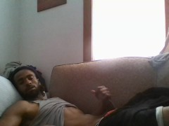 Devilishly Handsome Ade Jerking BBC Caught BY Webcam (Solo Male)