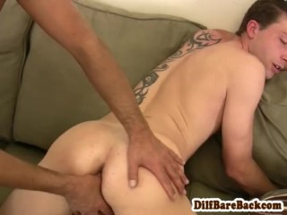 Daddy fucks and fingers young dudes ass