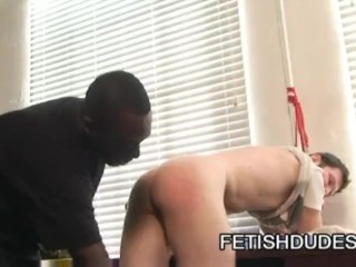 Hot Boi and Luke Cross: Black Dude Spanking A Nasty White Ass