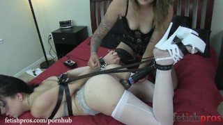 Preview 3 of Juliette March Hogtied by Missy Minks with Leather Straps