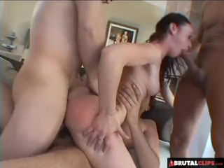 BrutalClips - Intense Gangbang For Elizabeth Lawrence