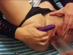 Sexy Aussie Brunette Gets Fucked & Squirts Hard – Part 2 Ft. Glass Bottle