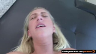 Busty First timer rides a BBC  doggy style big cock stripping reverse cowgirl blowjob amateur blonde cumshot pov casting castingcouch hd cock sucking interracial big boobs cum in mouth