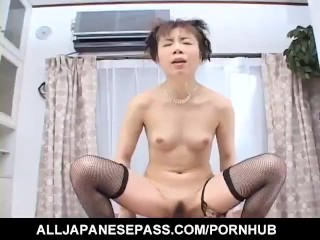 Japanese AV Model has cum in mouth after is nailed by sucked cock