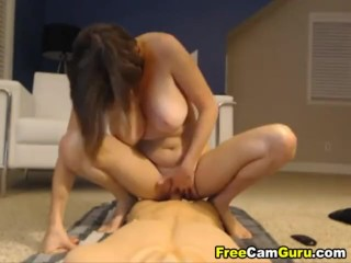 Elay smith with Huge Tits playing with her toy