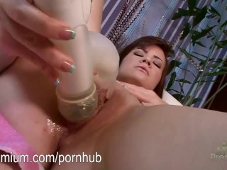 Alison Rey fucking her pussy with a toy