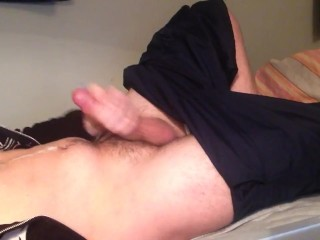 A quick big cumshot on my chest/stomach