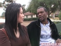 Sasha meets Big Mann on campus and he gapes her!!!