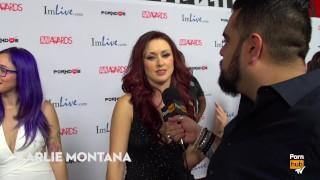 Weirdest Thing You Masturbated To? 2015 AVN Red Carpet Interviews PornhubTV
