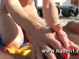handjob on a public beach by naomi1 cap agde