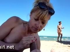 blowjob on public beach by naomi1 cap agde cum