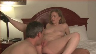 cuckold husband eats creampie  amateur wife cuckold