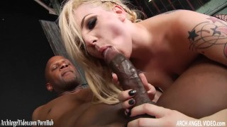 Petite blonde rammed in the ass by big black cock  big cock rough big black cock blonde riding porn star archangelvideo anal interracial brunette tattoos cowgirl ass fuck doggy style stockings natural tits