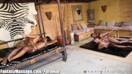 Sensual Ebony 4Way with Nuru Massage