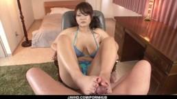 Big tits milf, Airi Ai, wants cock in each of her holes