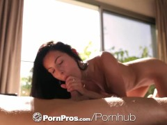 PornPros – Lexi Dona's expert tongue goes up and down on a cock