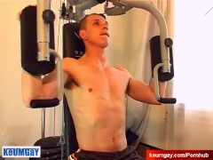 Full video: straight guy hard in a shower (Ludo)