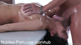 Preview 2 of Nubiles Porn - Erotic massage leads to squirting orgasm