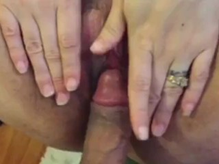 Tapping on her clit