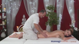 Preview 4 of Massage Rooms Horny model has her perfect 10 body oiled and fucked