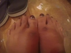 My long Indian feet