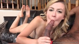 Jeze Belle Has Feet and Pussy Fucked By Black Dick